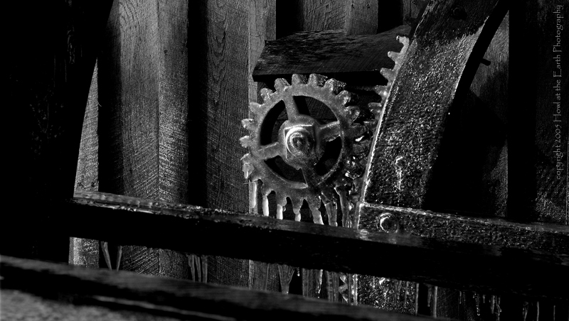 Frozen Gears - Mabry Mill, Blue Ridge Parkway, Virginia 2005