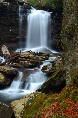 Middle Hill Creek Falls - Monongahela National Forest, Hills Creek Scenic Area, West Virginia 2005